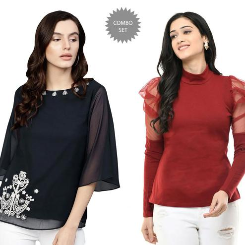 Hypnotic Casual Wear Printed Top - Pack of 2