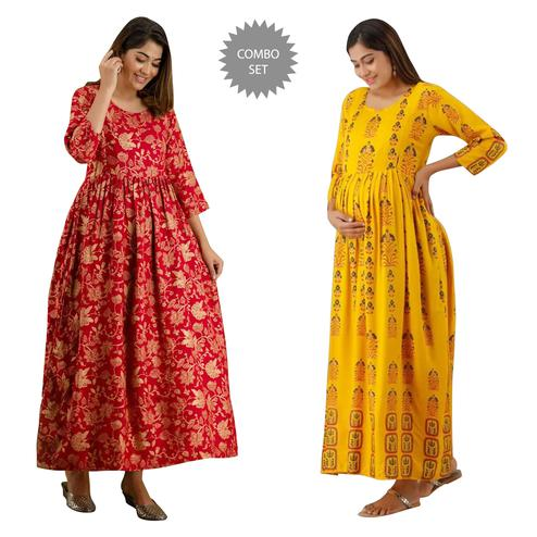 Exceptional Maternity Kurta With Zip Pack Of 2