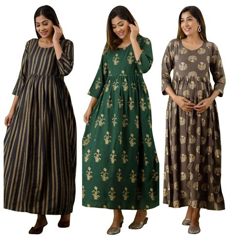 Magnetic Maternity Kurta With Zip Pack Of 3