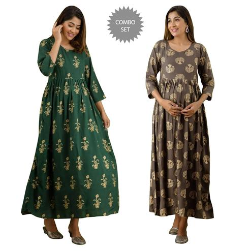 Excellent Maternity Kurta With Zip Pack Of 2