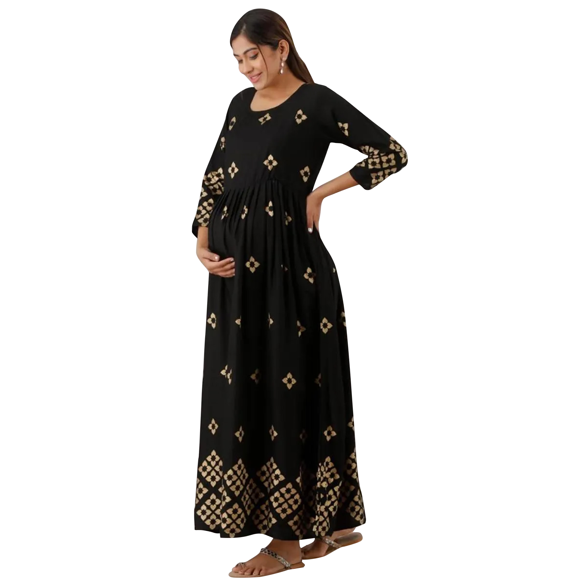 Flaunt Maternity Kurta With Zip Pack Of 2