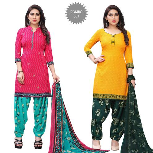 Glorious Casual Wear Printed Dress Material Pack Of 2