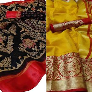 Capricious Casual - Festive Wear Printed Saree Pack Of 2