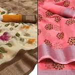 Jazzy Casual - Festive Wear Printed Saree Pack Of 2