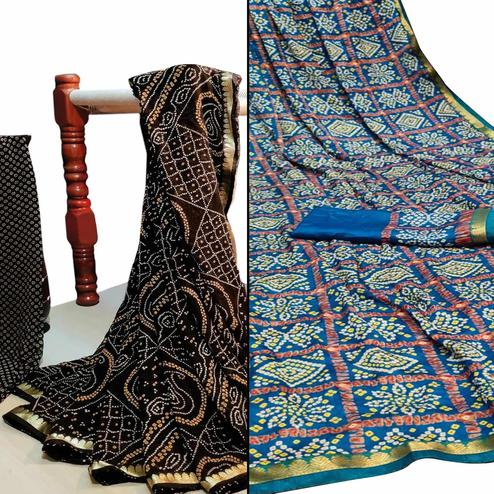 Lovely Festive Wear Woven Saree Pack Of 2