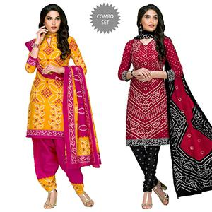 Innovative Casual Printed Jetpur Cotton Dress Materials - Pack of 2