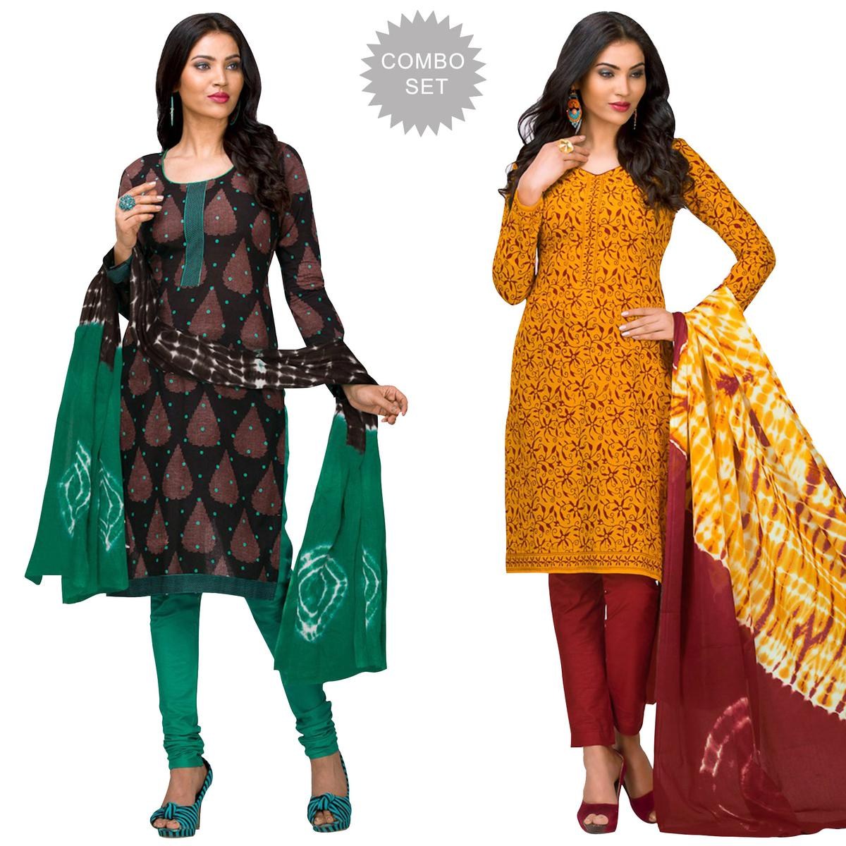 54f957a47c0e0 Buy Graceful Casual Printed Jetpur Cotton Dress Materials - Pack of 2 for womens  online India