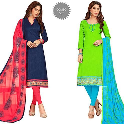 Beautiful Casual Wear Cotton Suit - Pack of 2