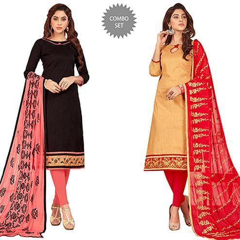 Attractive Casual Wear Cotton Suit - Pack of 2