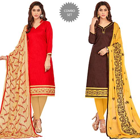 Eye-Catching Casual Wear Cotton Suit - Pack of 2