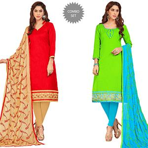 Refreshing Casual Wear Cotton Suit - Pack of 2