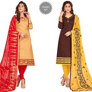 Appealing Casual Wear Cotton Suit - Pack of 2
