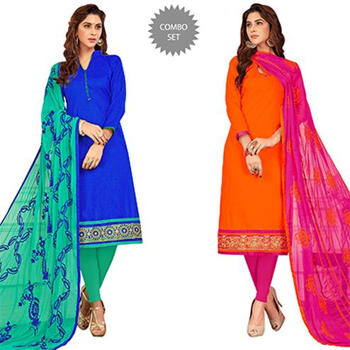 Entrancing Casual Wear Cotton Suit - Pack of 2