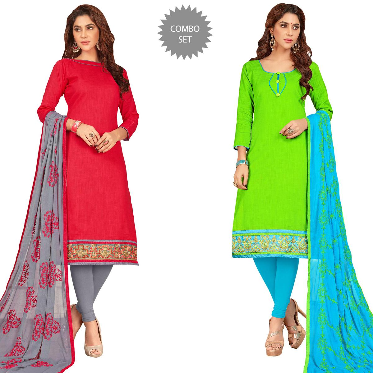 Lovely Casual Wear Cotton Suit - Pack of 2