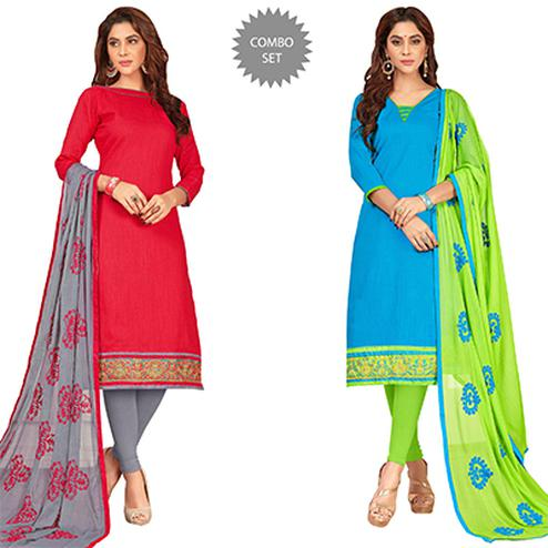 Stylish Casual Wear Cotton Suit - Pack of 2