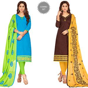 Glowing Casual Wear Cotton Suit - Pack of 2
