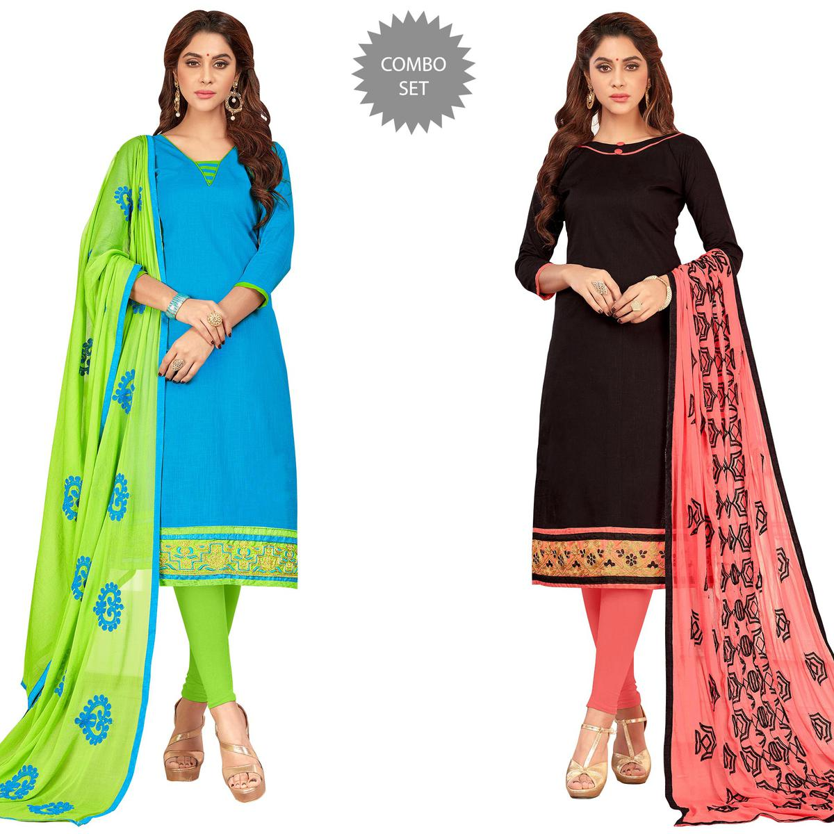 Desiring Casual Wear Cotton Suit - Pack of 2