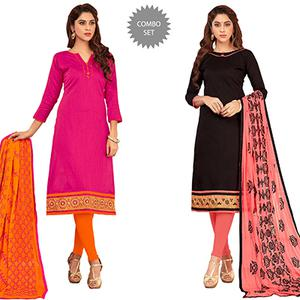 Flawless Casual Wear Cotton Suit - Pack of 2