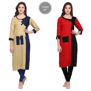 Gorgeous Casual Wear Pure Rayon Kurti - Pack of 2
