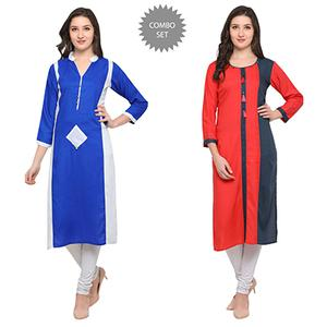 Trendy Casual Wear Pure Rayon Kurti - Pack of 2