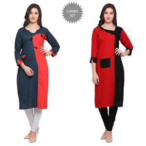 Stylish Casual Wear Pure Rayon Kurti - Pack of 2