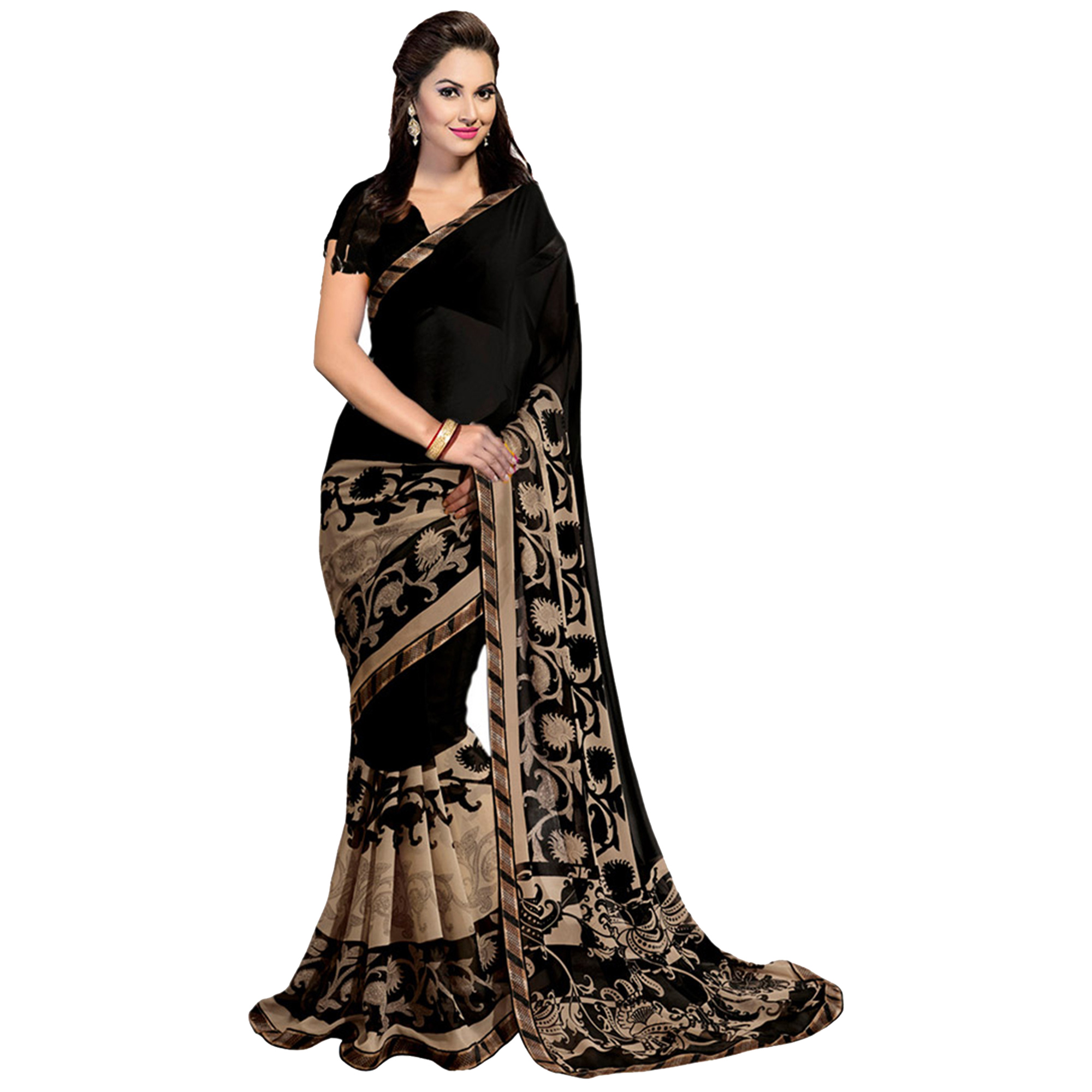 Desiring Casual Printed Art Silk-Georgette Saree - Pack of 3