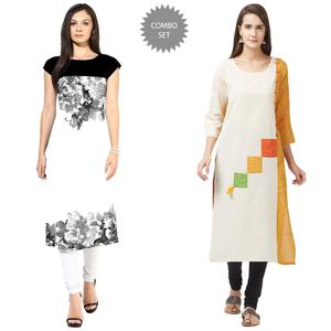 Lovely American Crape And Pure Handloom Cotton Kurtis - Pack Of 2