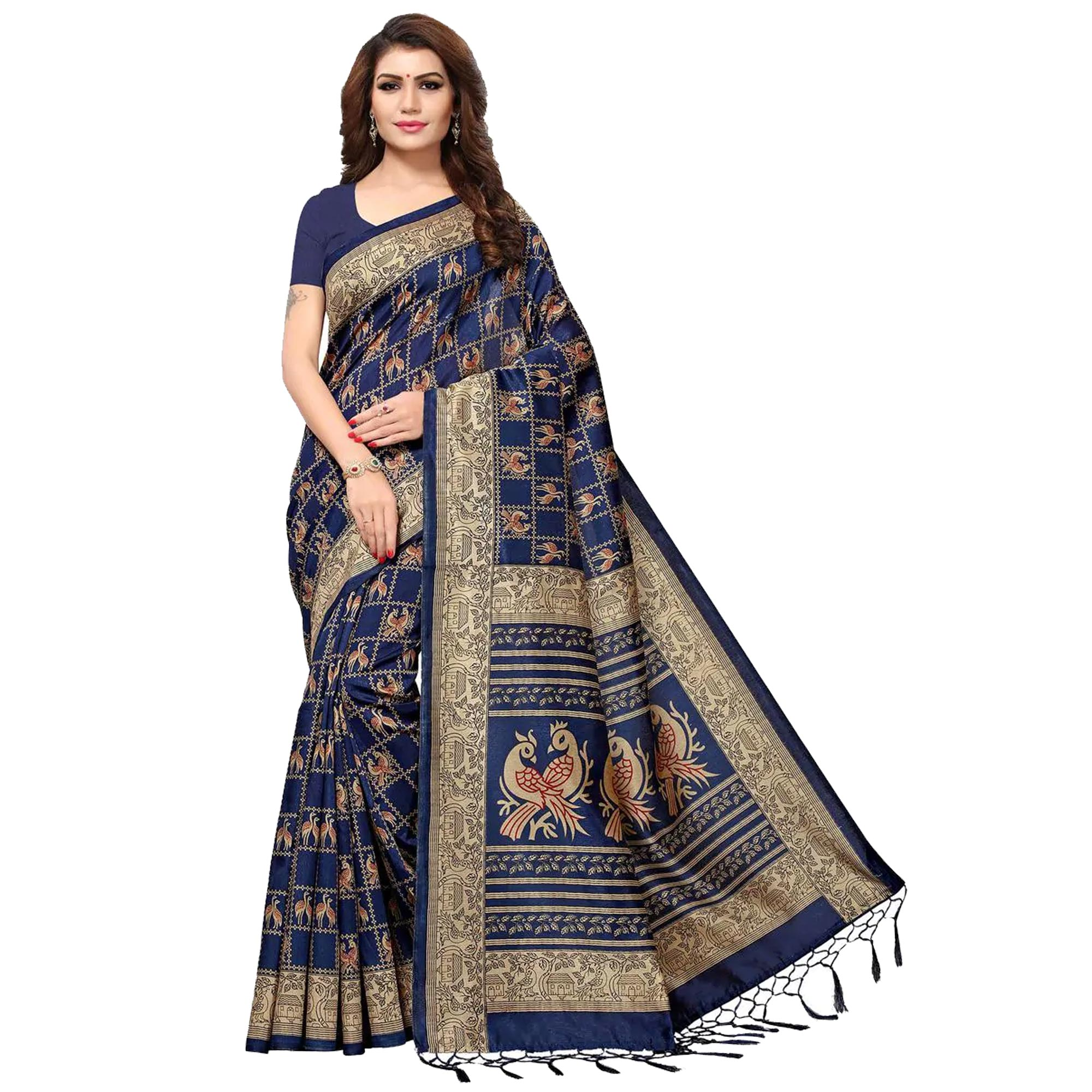 Mesmeric Festive Wear Printed Saree - Pack of 3