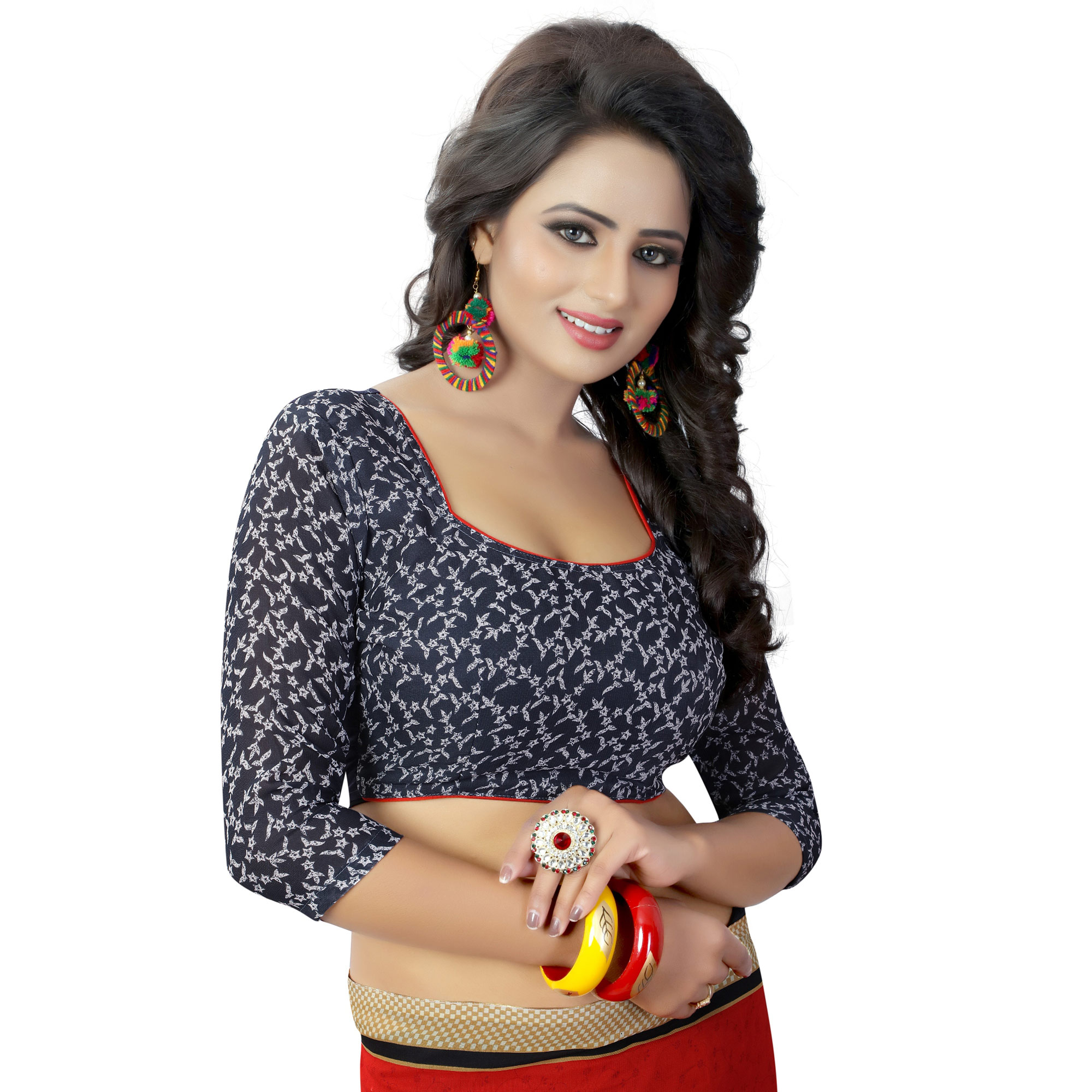 Attractive Casual Printed Georgette Saree - Pack of 2