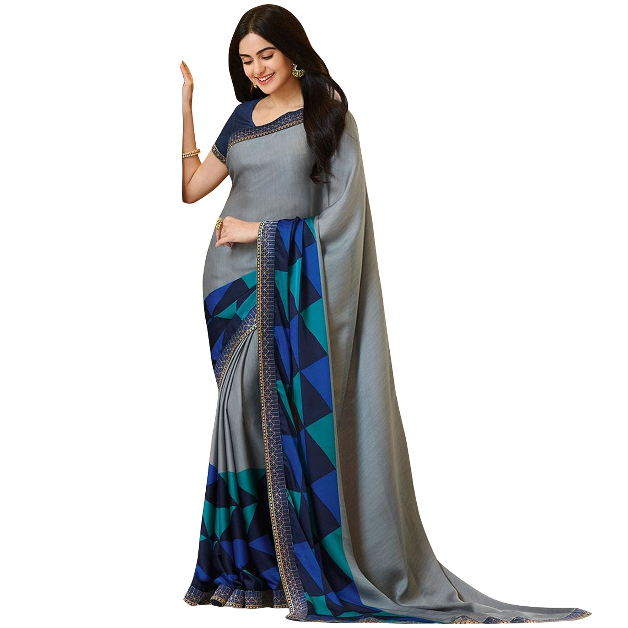 Graceful Casual Printed Georgette Saree - Pack of 3