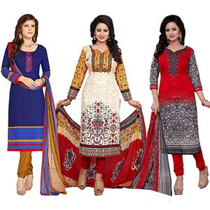 Pack of 3 Casual Wear Dress Material