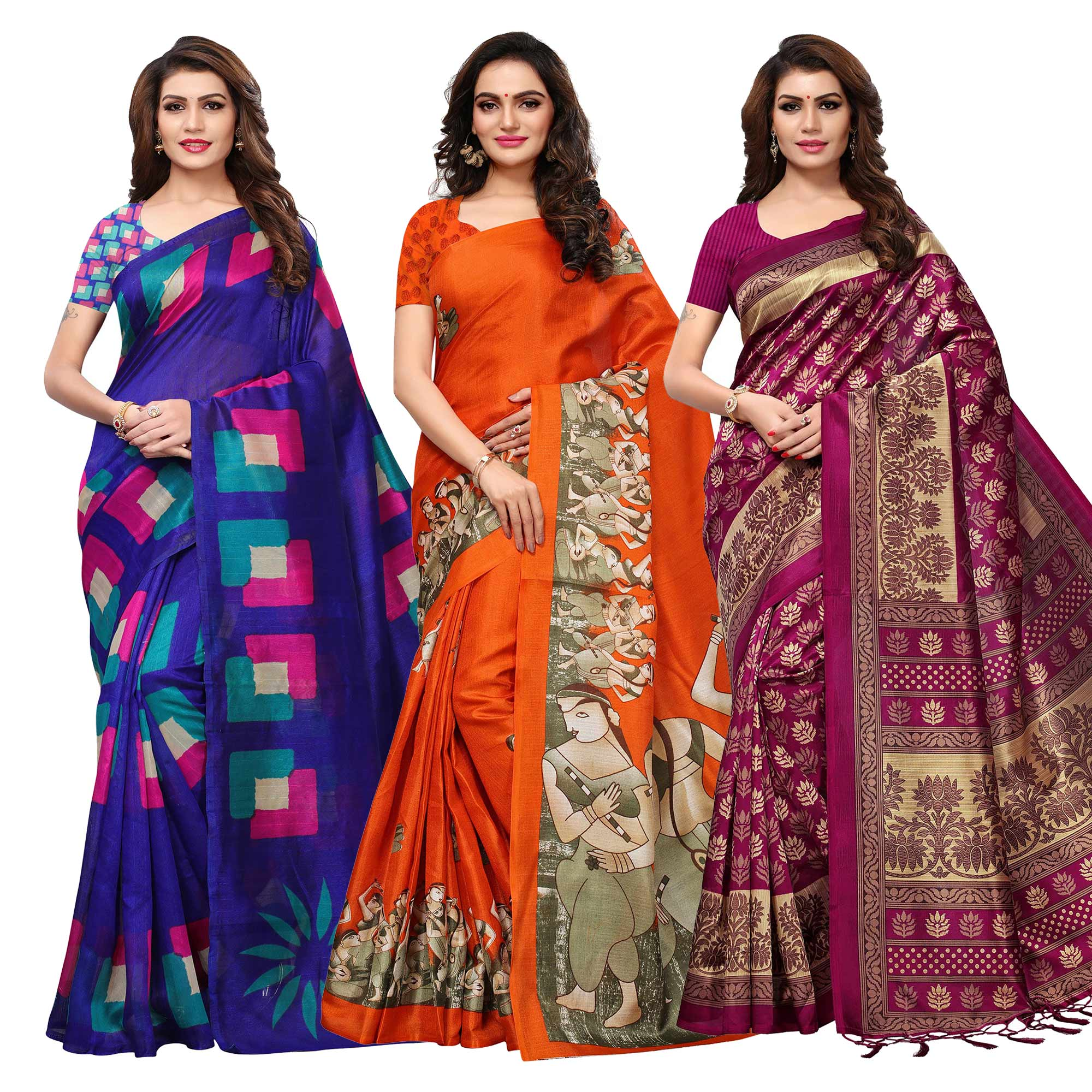 appealing-casual-printed-saree-pack-of-3