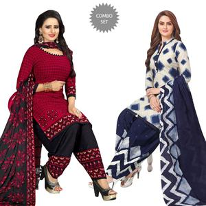 Gorgeous Casual Printed Leon Dress Material - Pack of 2