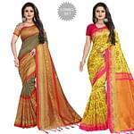 Entrancing Festive Wear Printed Mysore Silk Saree - Pack of 2