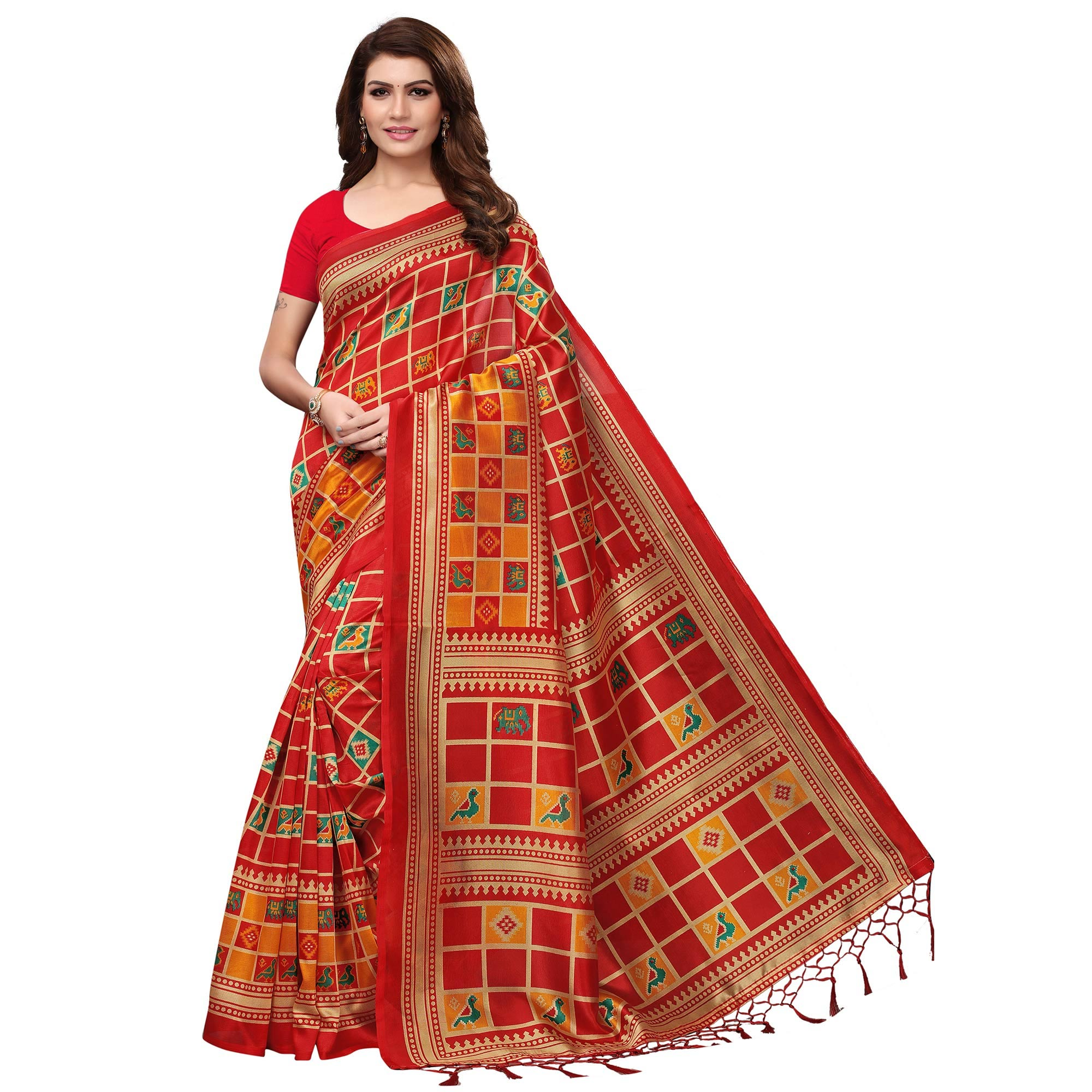 Exotic Festive Wear Printed Mysore Silk Saree - Pack of 2