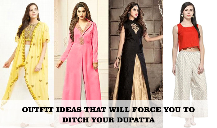 Outfit ideas that will force you to ditch your dupatta