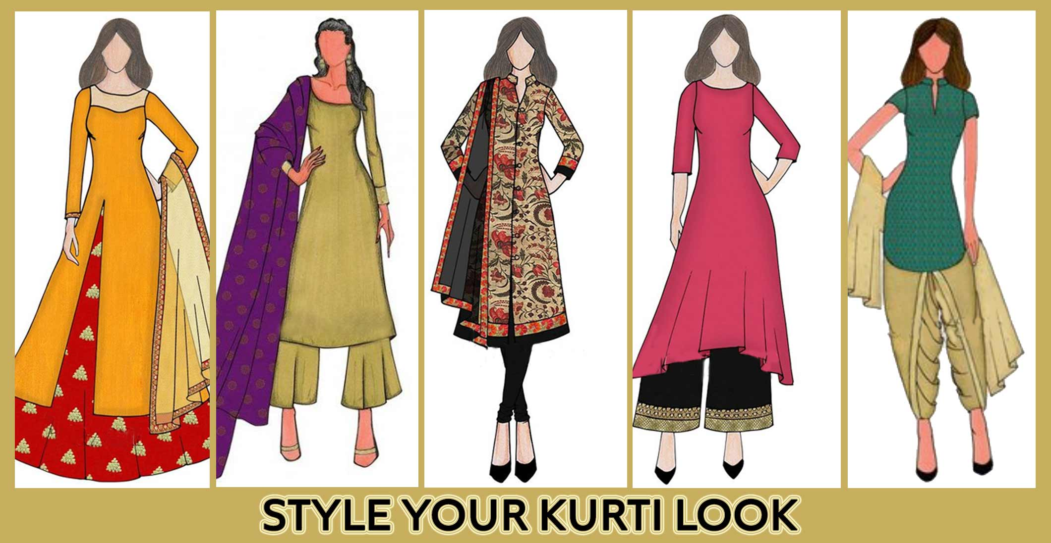 STYLE HACKS TO LOOK SLIM IN KURTIS