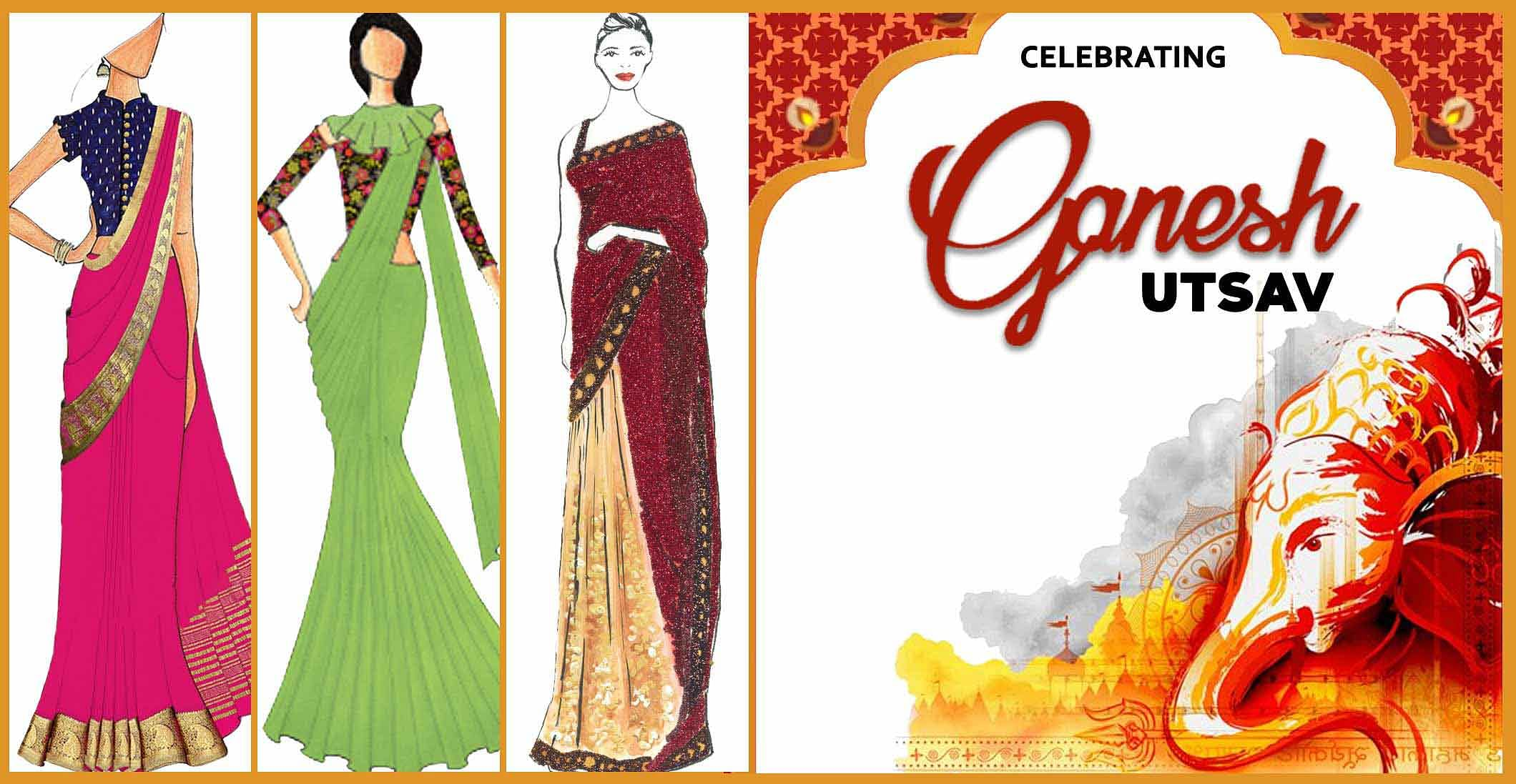 11 Festive Sarees for Ganesh Chaturthi