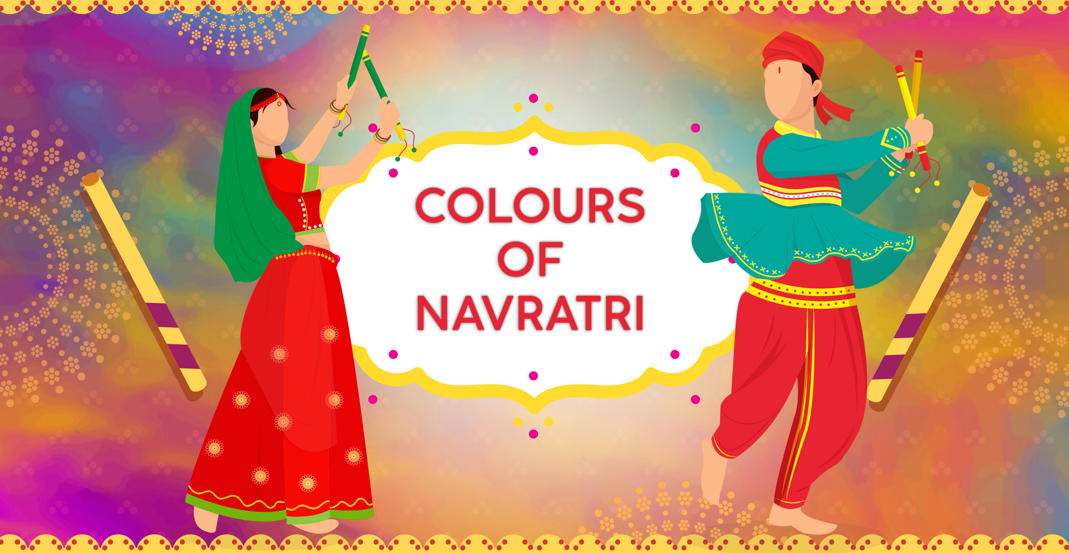 Nine Days, Nine Colors of Navratri: Garba Lehengas