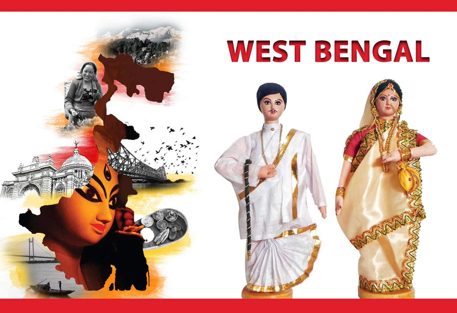 STATE COSTUME:  WEST BENGAL