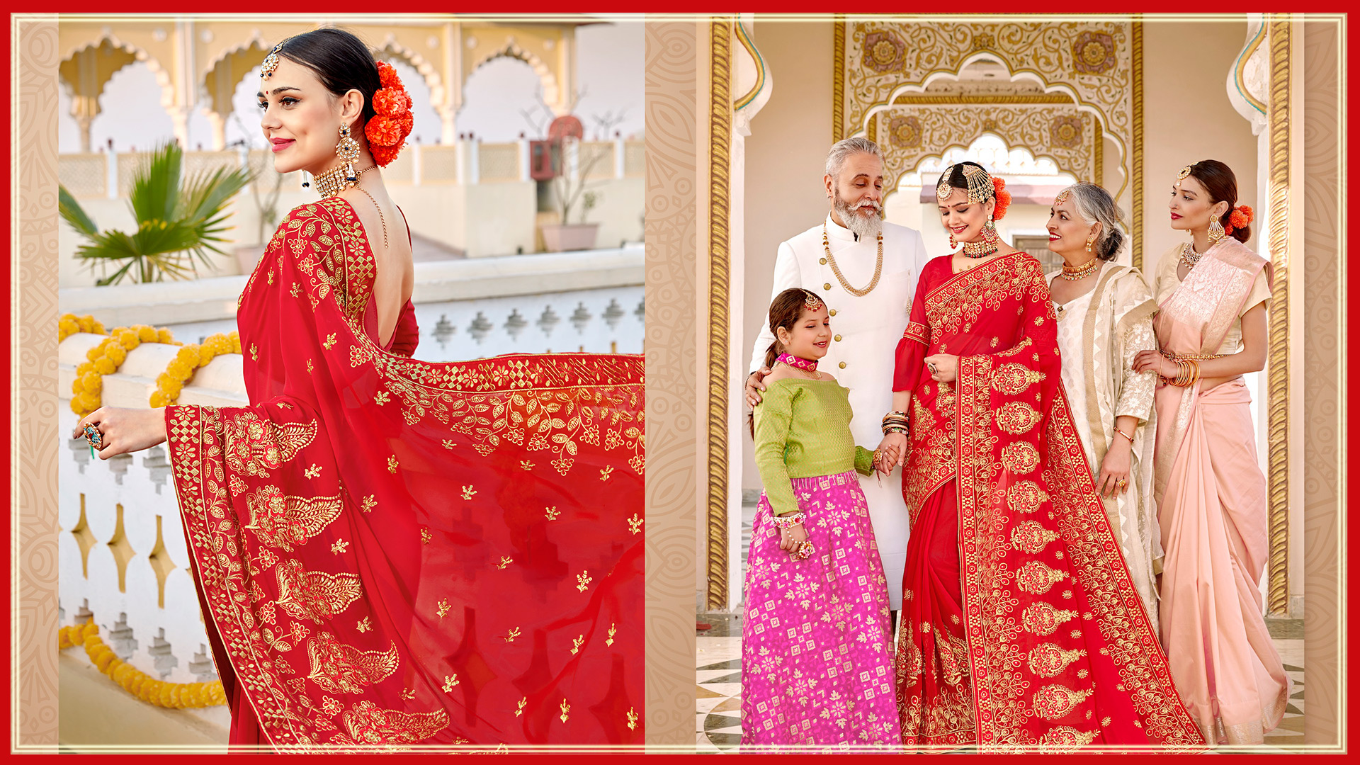 Latest Wedding Sarees Collection : Buy Online