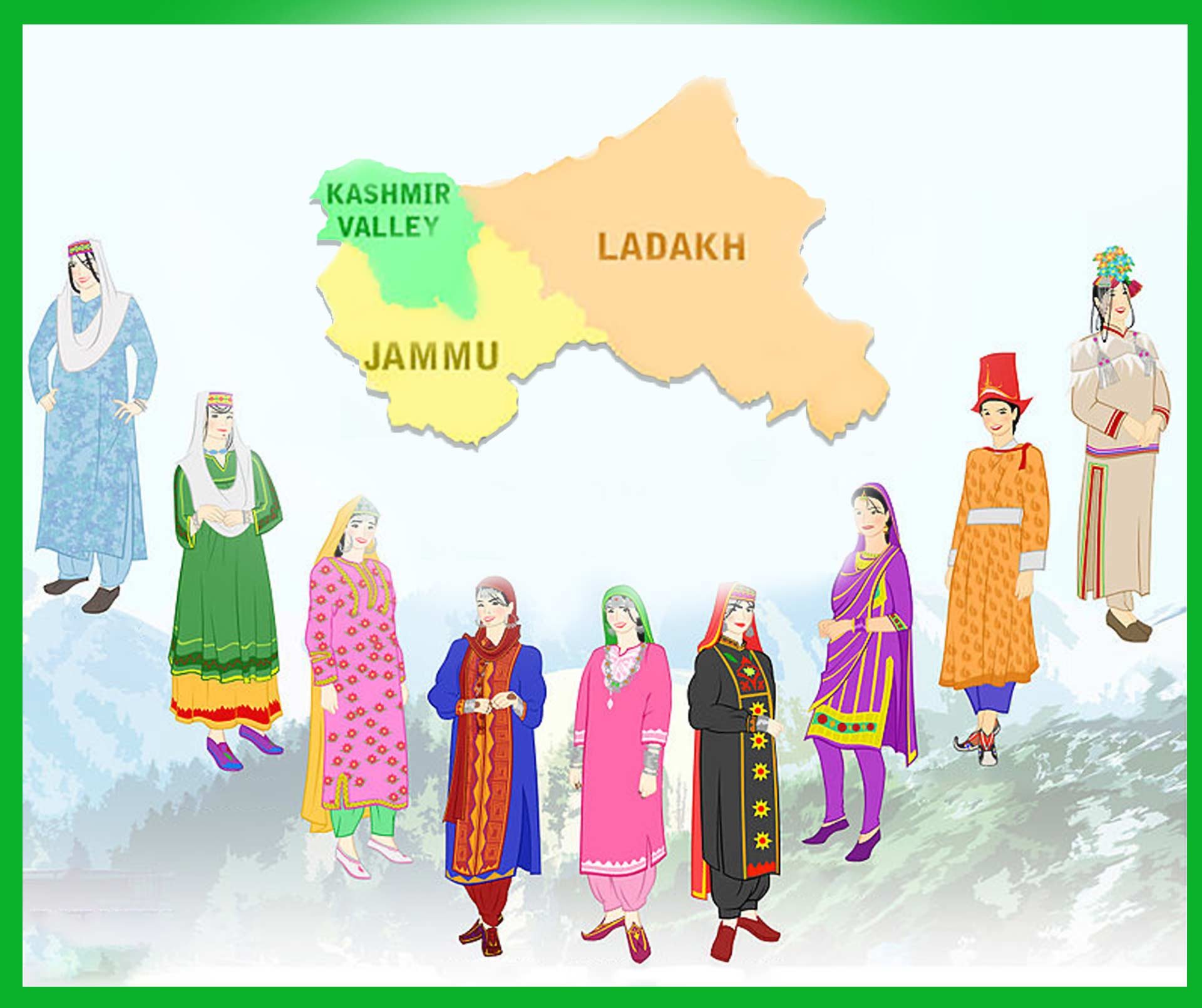 STATE COSTUME: JAMMU AND KASHMIR