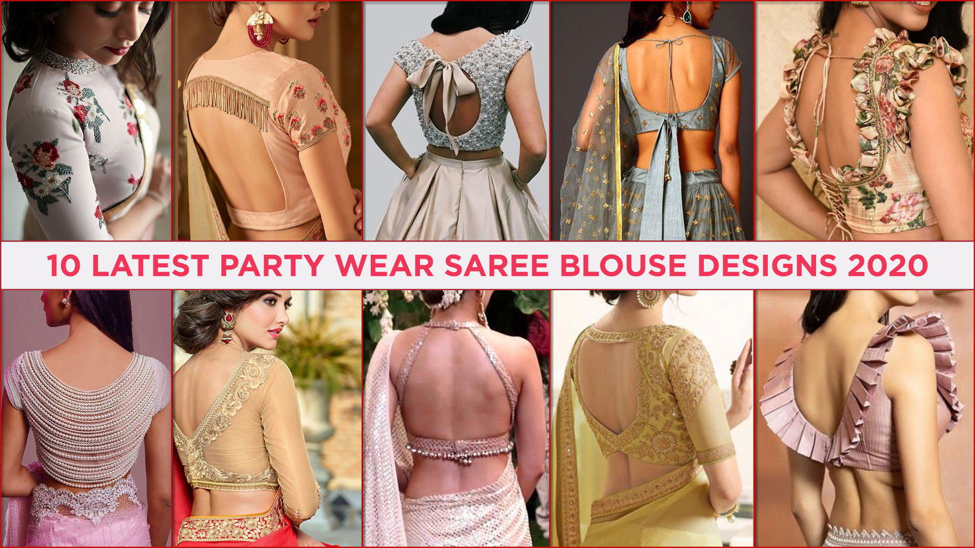 10 Latest Party Wear Saree Blouse Designs