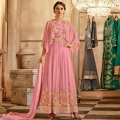 Charming Light pink Colored Salwar Kameez