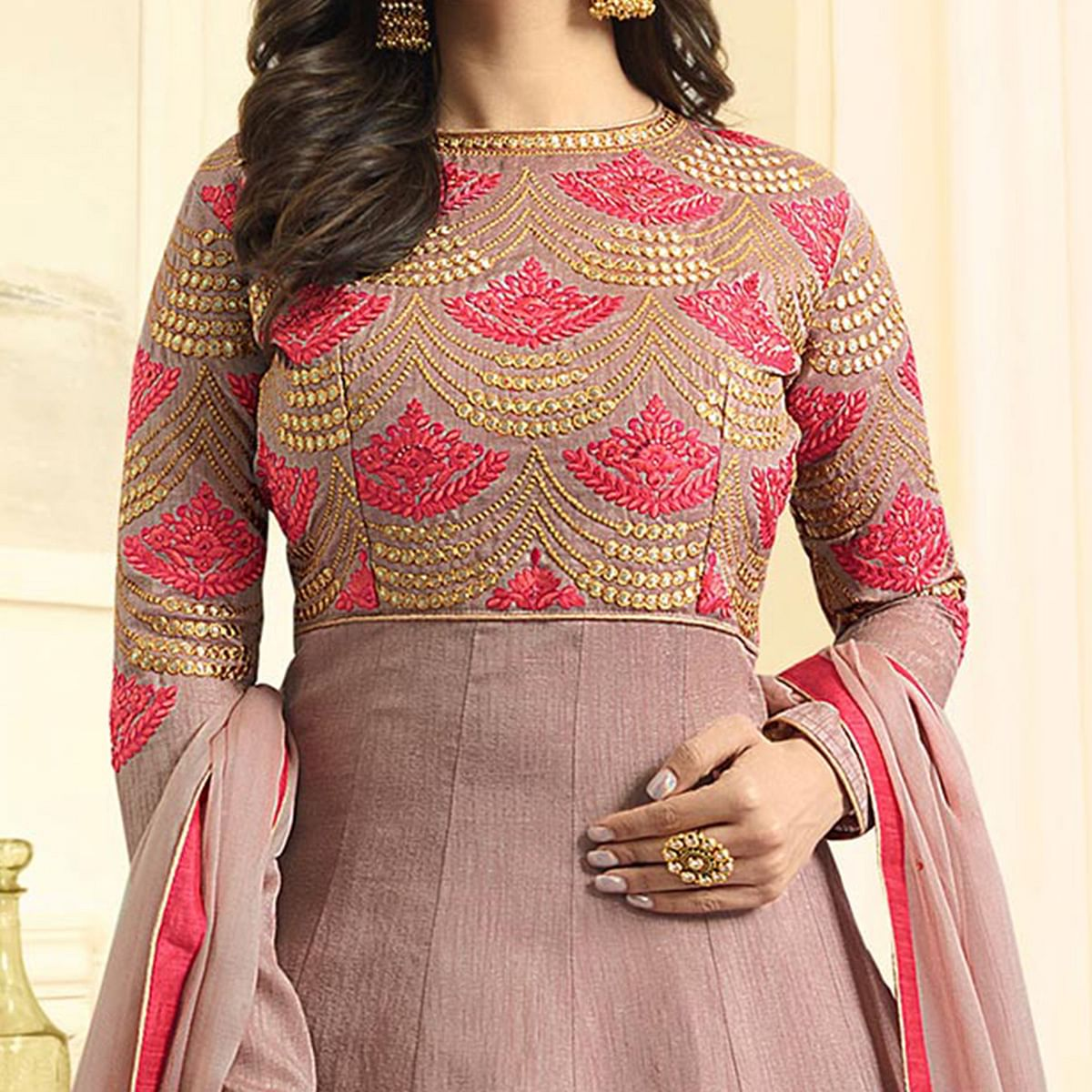 Beautiful Light purple Colored Designer Partywear Suit