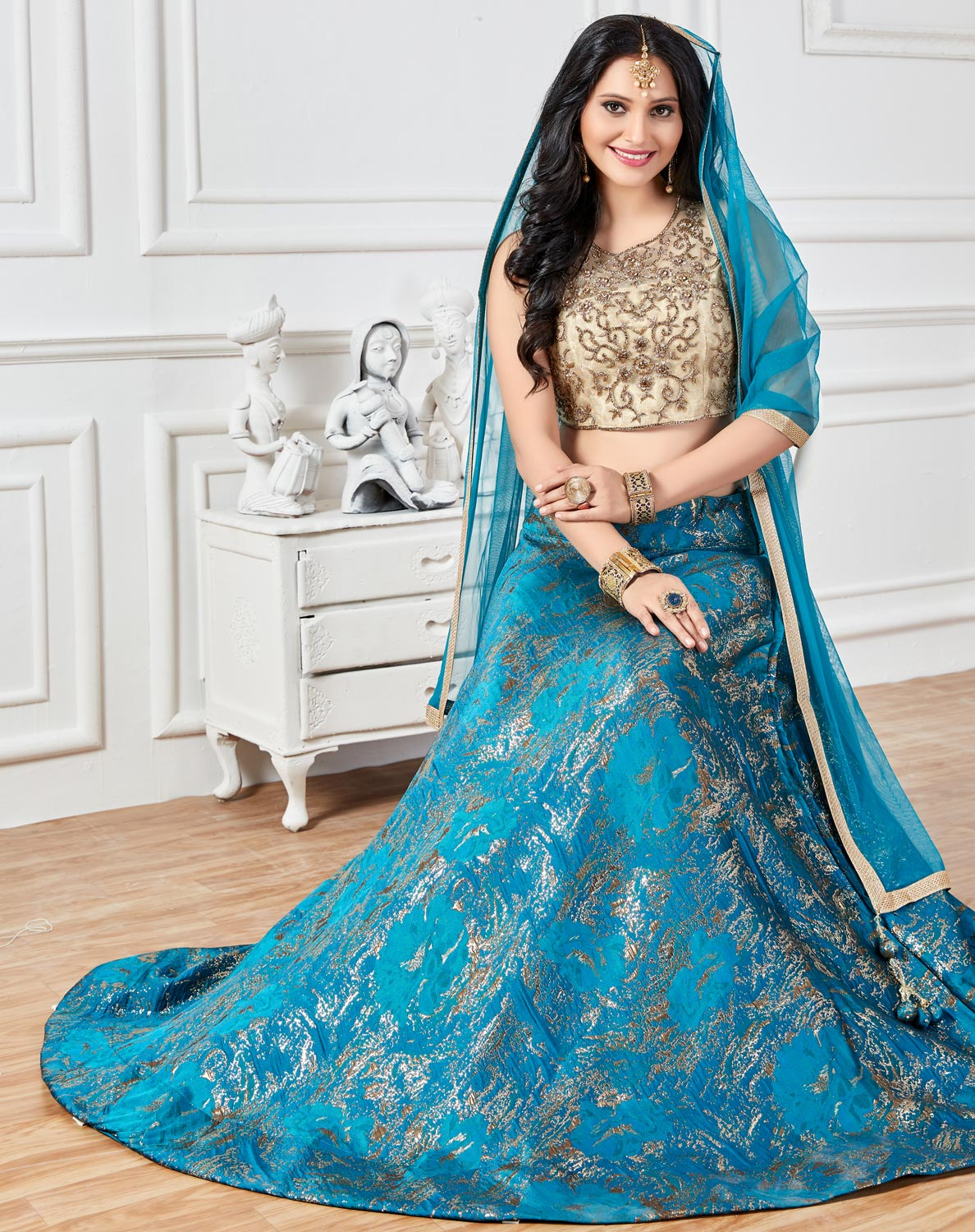 Charismatic Blue Colored Lehenga Choli