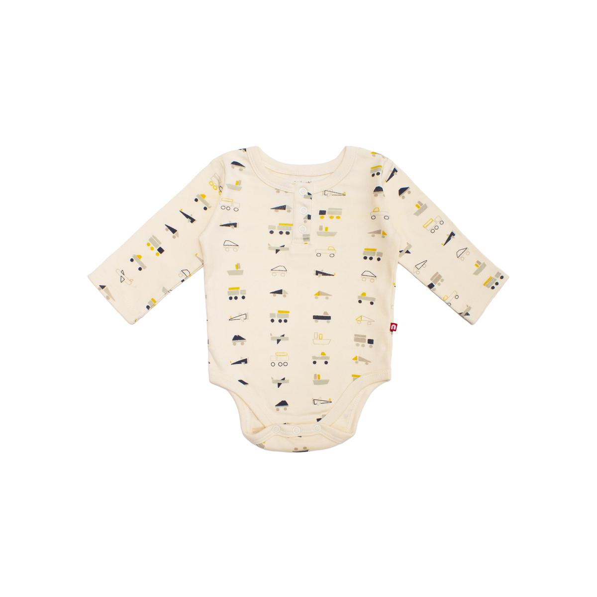 Nino Bambino - 100% Organic Cotton Round Neck Full Sleeve  Color Bodysuit For Baby Boy And Baby Girl