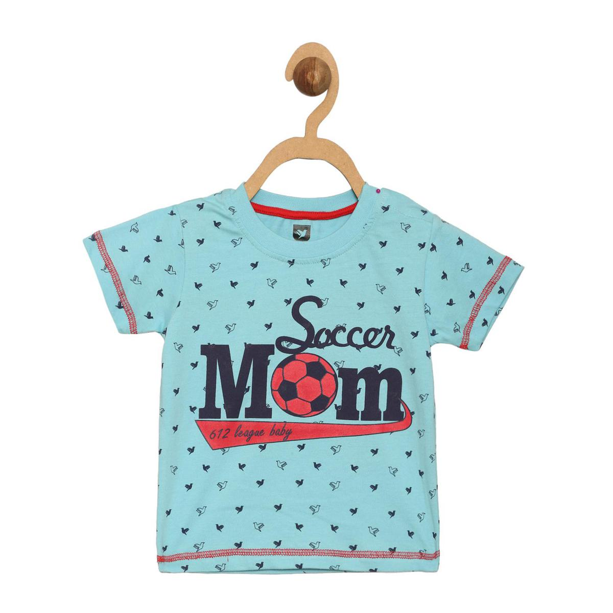 612 League - Boy's Blue Colored Knits Printed T-shirt