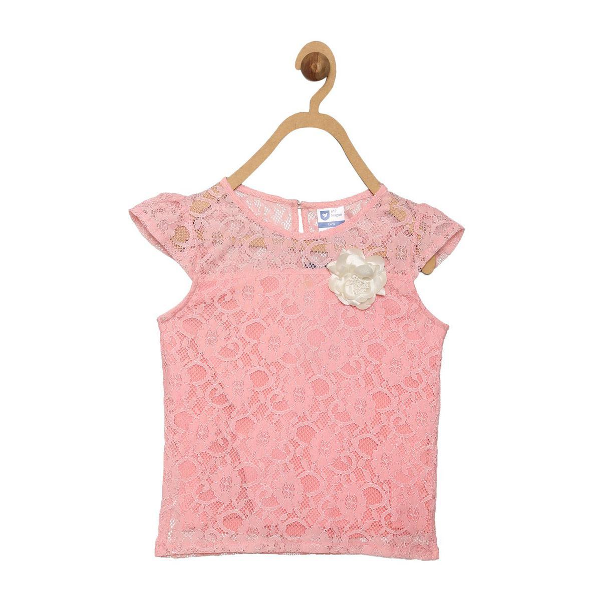 612 League - Girl's Peach Colored Knits Top