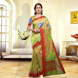 Classy Yellow Colored Festive Wear Art Silk Saree